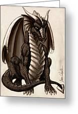 Sepia Dragon Greeting Card