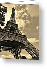 Sepia Eiffel Greeting Card