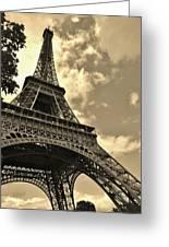 Sepia Eiffel Greeting Card