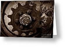 Sepia Gear Greeting Card