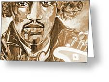 Sepia Jimi Greeting Card