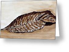 Sepia Leaf. Greeting Card