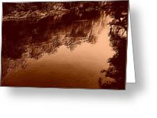 Sepia River Greeting Card