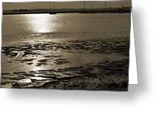 Sepia River Greeting Card