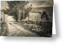 Sepia Road Greeting Card