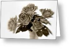 Sepia Roses Greeting Card