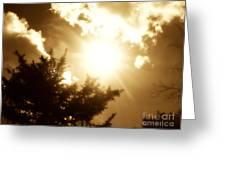 Sepia Sky Greeting Card