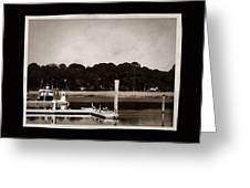 Sepia Tone Lagoon Greeting Card