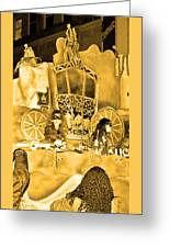 Sepia Toned Glass Slipper Greeting Card