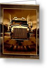 Sepia Toned Kenworth Abstract Greeting Card