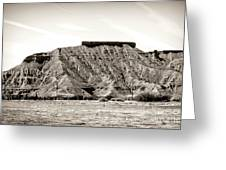 Sepia Tones Nature Landscape Nevada  Greeting Card