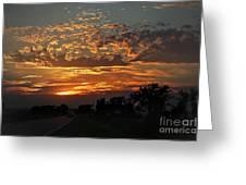 Sept Sunset Greeting Card