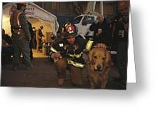 September 11th Rescue Workers Receive Greeting Card by Ira Block