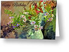 September Birthday Aster Greeting Card