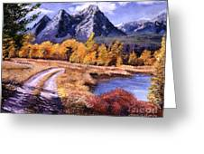 September High Country Greeting Card by David Lloyd Glover