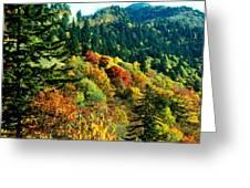 September Mountainside Greeting Card