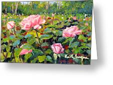 September Roses Greeting Card