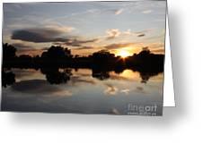 September Sunset In Prosser Greeting Card