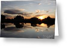 September Sunset In Prosser Greeting Card