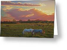 September Sunset In Taos Greeting Card