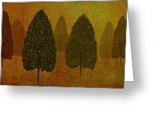 September Trees  Greeting Card