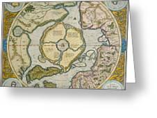 Septentrionalium Terrarum Descriptio Greeting Card by Gerardus Mercator