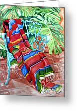 Serape On Wrought Iron Chair I Greeting Card