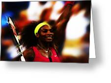 Serena Williams Another Record Set Greeting Card