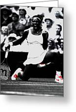 Serena Williams Victory Greeting Card by Brian Reaves