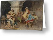 Serenade In The Tavern Greeting Card