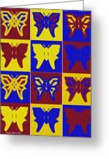 Serendipity Butterflies Brickgoldblue 1 Greeting Card
