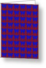 Serendipity Butterflies Brickgoldblue 15  Greeting Card
