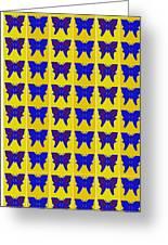 Serendipity Butterflies Brickgoldblue 27 Greeting Card