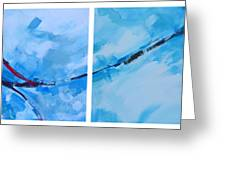 Entangled No.7 - Abstract Painting Greeting Card