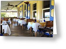 Serendipity Restaurant St Kitts Greeting Card