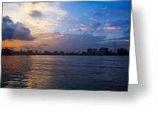 Serene City At Dusk Greeting Card