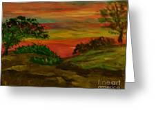 Serene Hillside II Greeting Card by Marie Bulger