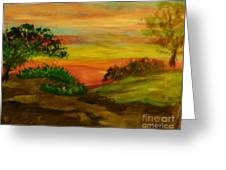 Serene Hillside I Greeting Card by Marie Bulger