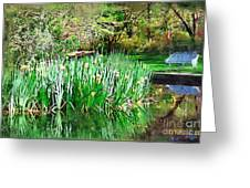 Serene Iris Greeting Card