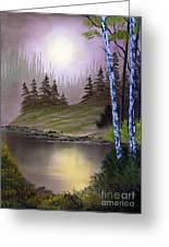Serene Nightscape Greeting Card