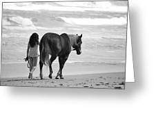 Serene Synchronicity In Black And White Greeting Card