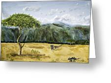 Serengeti Painting Greeting Card
