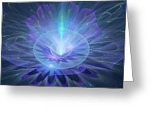 Serenity Abstract Fractal Greeting Card
