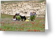 Serenity At Lachish Greeting Card