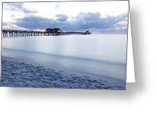 Serenity At Naples Pier Greeting Card