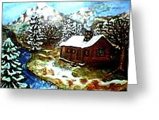 Serenity Cabin Greeting Card