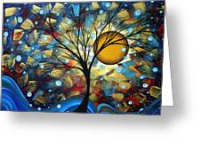 Serenity Falls By Madart Greeting Card by Megan Duncanson