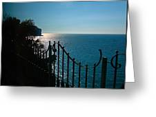 Serenity In The Bay Of Naples Greeting Card