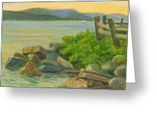 Serenity On The Hudson Greeting Card