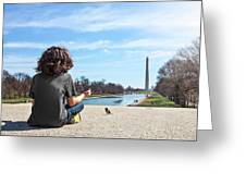 Serenity On The National Mall Greeting Card